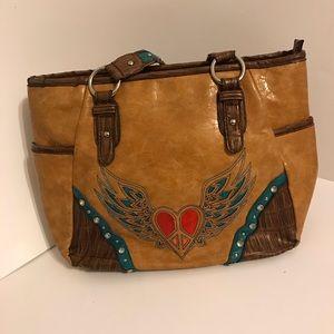 Blazin roxx peace heart bag